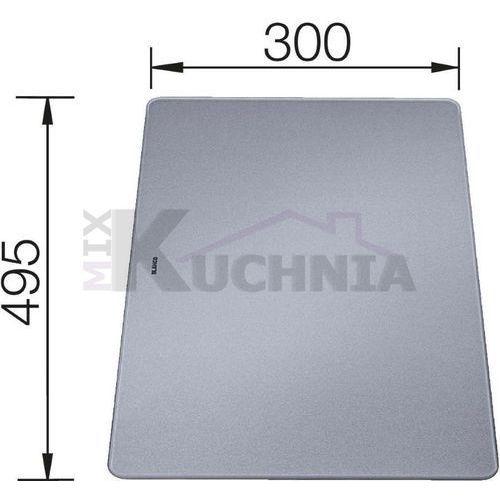 Blanco Deska ze szkła hartowanego satynowanego srebrna 495x300x5mm (226191)