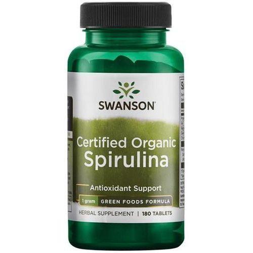 Swanson health products Swanson certyfikowana organiczna spirulina 500 mg 180 tabletek (0087614060446)