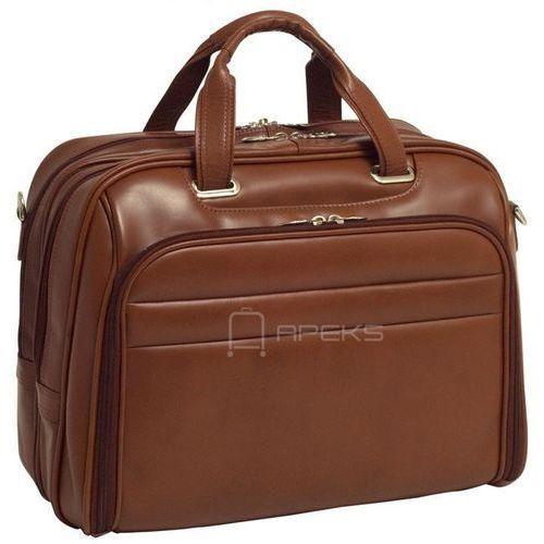 """Mcklein springfield skórzana torba na ramię na laptopa 17"""" - brązowy"""