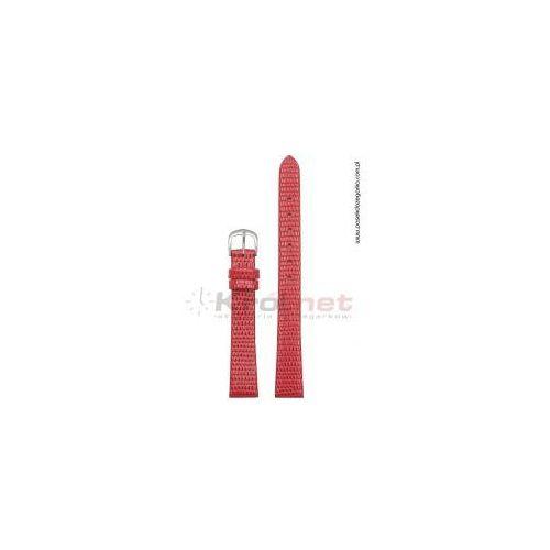 Pasek TK033CZ/6 - czerwony, imitacja skóry jaszczurki