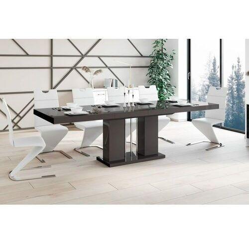 Stół rozkładany LINOSA 160-260 cm brąz połysk, HS-0228