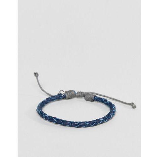 Classics 77 navy plaited bracelet - navy