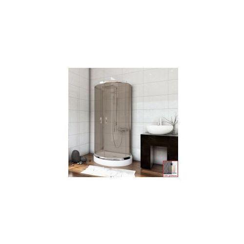 Metal-hurt sea horse Stylio zestaw kabina przyścienna 100x80x190 + brodzik + syfon, szkło grafitowe z powłoką cleanglass bkz501xg+ * wysyłka gratis