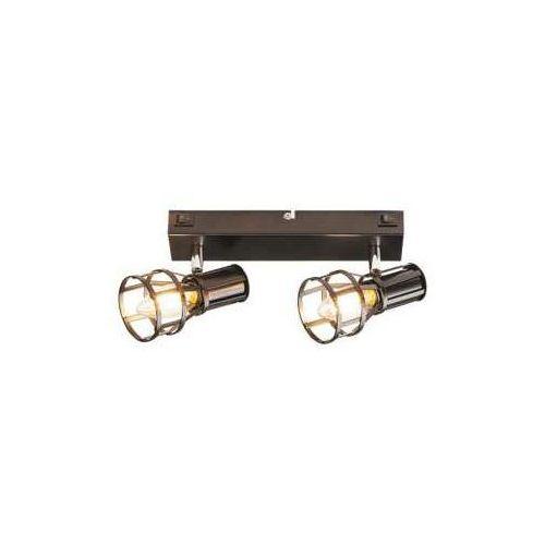 Listwa lampa sufitowa spot Rabalux Aria 2x15W E14 czarny mat 5959, 5959