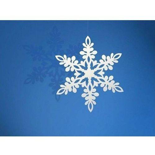 Zawieszka śnieżynka - 9 cm - 10 szt. marki Party deco