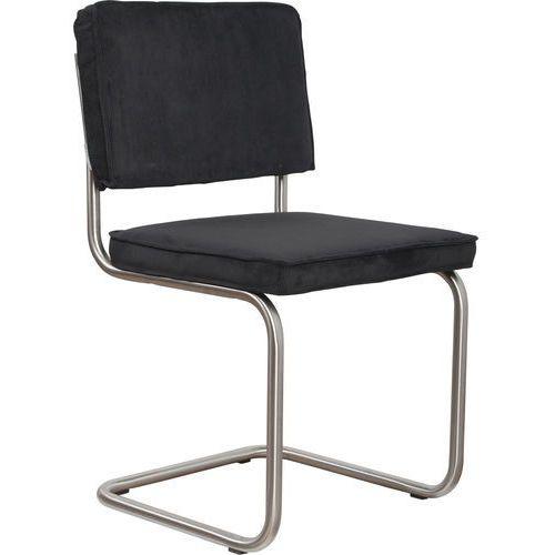 Zuiver krzesło ridge brushed rib czarne 7a 1100078 (8718548014503)