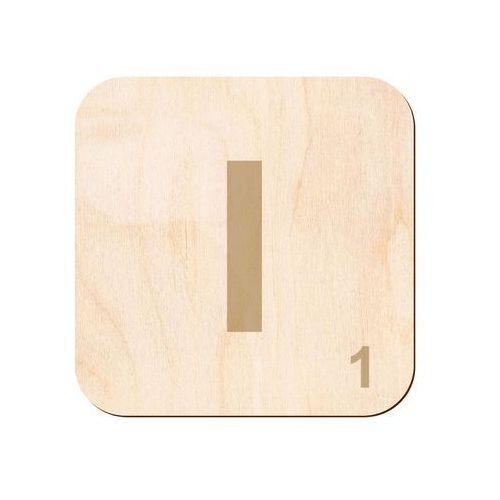 Drewniana dekoracja na ścianę scrabble - literka I (5907509932083)