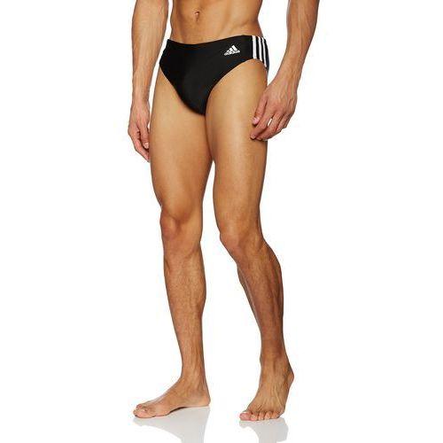 męskie essence core 3-pasmowe strój kąpielowy, czarny marki Adidas