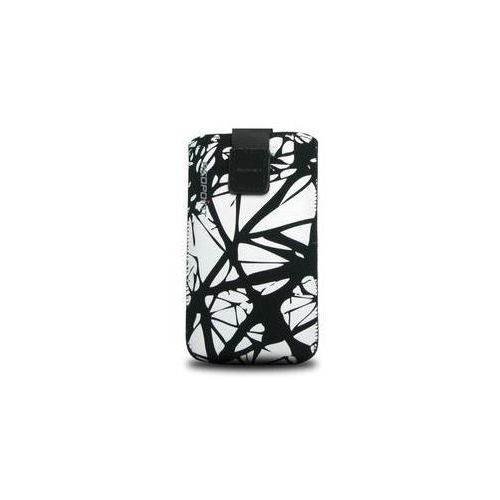 Etui na komórkę FIXED Velvet White Cracks, XXL (RPVEL-013-XXL) Czarne/białe z kategorii Futerały i pokrowce do telefonów