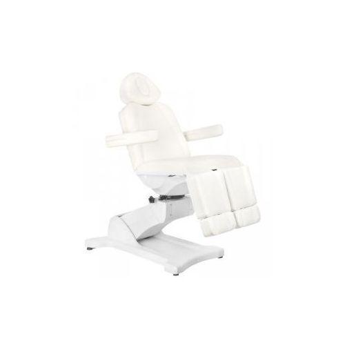Fotel kosmetyczny elektr. azzurro 869as pedi obrotowy 5 siln. biały marki Vanity_a