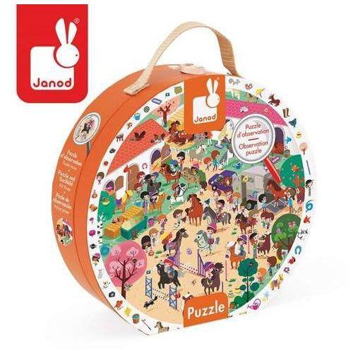 Puzzle obserwacyjne w walizce stadnina - zabawki dla dzieci marki Janod