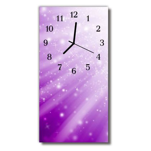 Zegar Szklany Pionowy Natura Gwiazdy promienie purpurowy, kolor fioletowy