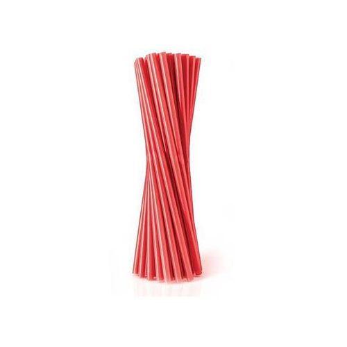 Słomki - rurki czerwone proste - 24 cm - 500 szt. - Czerwony