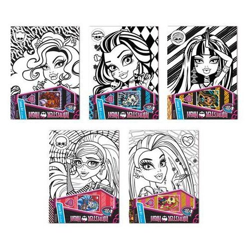 Monster High, podobrazie z nadrukiem, towar z kategorii: Zabawki kreatywne