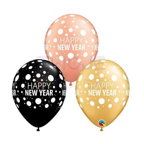 Twojestroje.pl Balon happy new year mix 30cm 1szt
