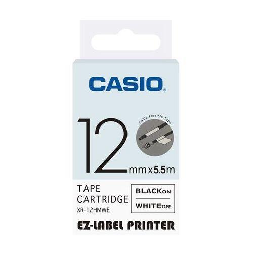 taśma etykiet elastyczna (do oznaczania kabli) xr-12hmwe, xr12hmwe marki Casio