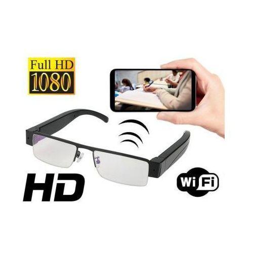 Mini-Kamera WIFI/P2P FULL HD, Ukryta w Okularach (cały świat!!) + Dźwięk + Zapis + Detekcja Ruchu..., 590779391251