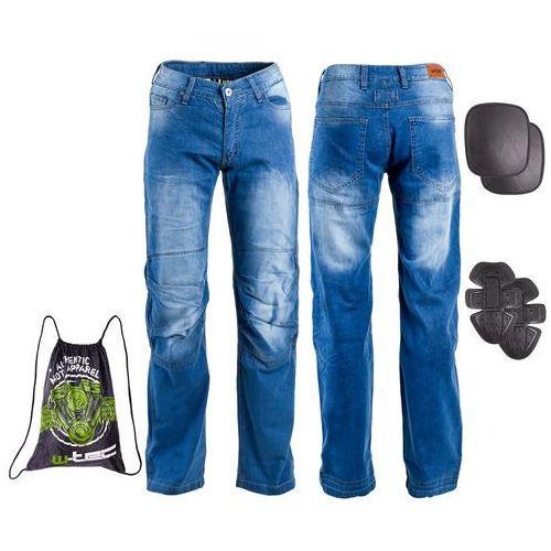 Męskie jeansowe spodnie motocyklowe davosh, niebieski, xl marki W-tec