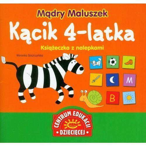 Mądry maluszek kącik 4-latka książeczka z nalepkami [goszczyńska weronika] marki Papilon