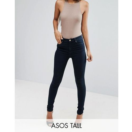 Asos tall  ridley skinny ankle jean in petunia blackened blue wash - blue