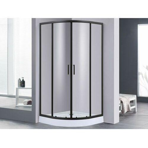 Vente-unique Narożna ścianka prysznicowa z brodzikiem sidoa – 80 × 80 × 192 cm (dł. × szer. × wys.)