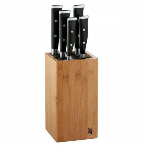 Wmf grand class 6cz. zestaw noży w bloku bambusowym