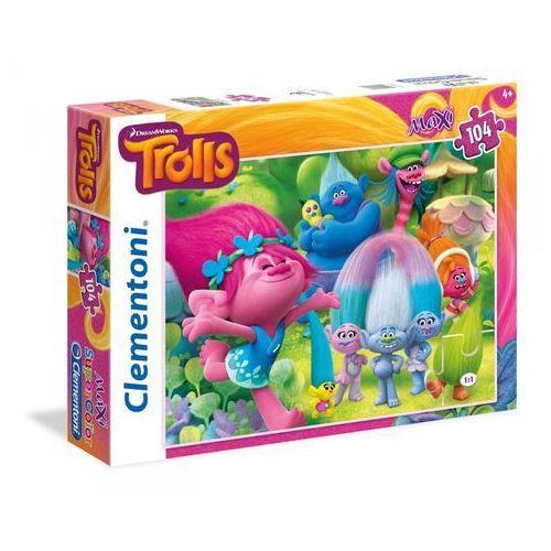 Clementoni Puzzle supercolor maxi trolle 104 (8005125239818)