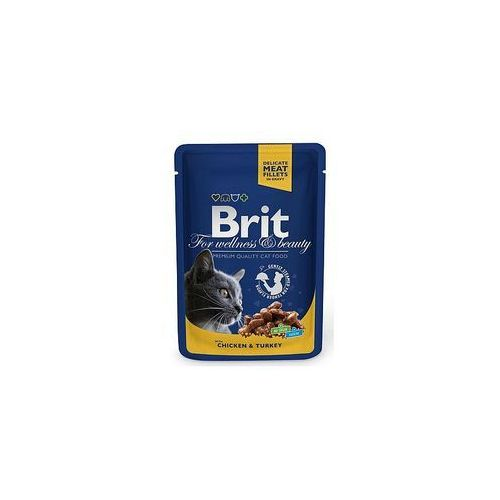 Brit PREMIUM Pouch Chicken & Turkey 100g (8595602506019)