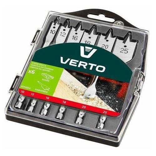 Wiertła do drewna łopatkowe 10-25mm 6szt marki Verto