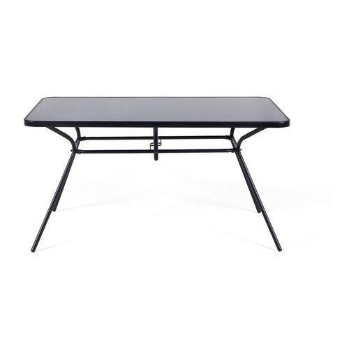 Beliani Meble ogrodowe czarne - balkonowe - stół z 6 krzesłami - stal - livo (7105277428335)