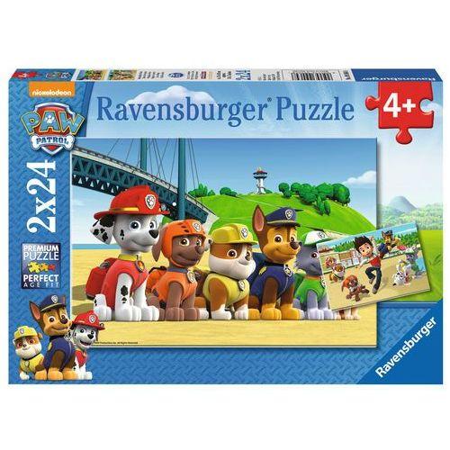 Tm toys Puzzle ravensburger 2x24 elementów. psi patrol (090648) + zakładka do książki gratis