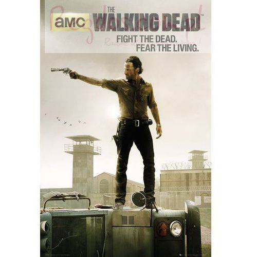 The walking dead fight the dead, fear the living - plakat od producenta Gb