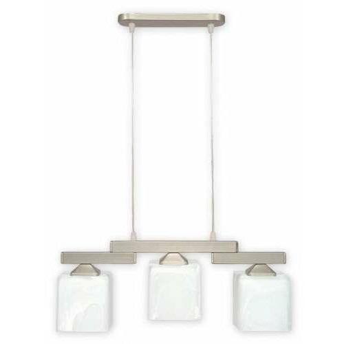 Lemir kostka o1063/w3 sat lampa wisząca zwis 3x60w e27 biała
