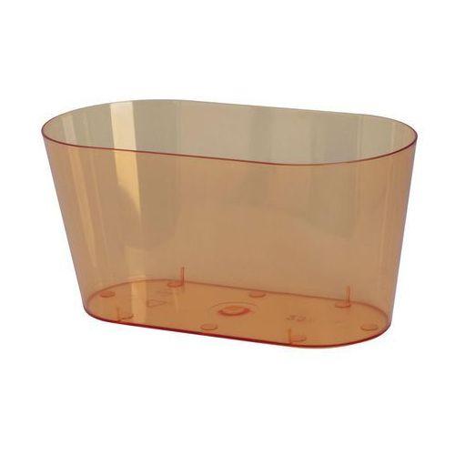 Form-plastic Osłonka na storczyki 23 x 11 cm plastikowa herbaciana (5907474339429)