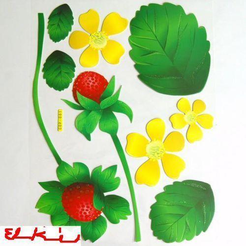 NAKLEJKA NAKLEJKI ŚCIANA MEBLE-3 D kwiaty i owoc