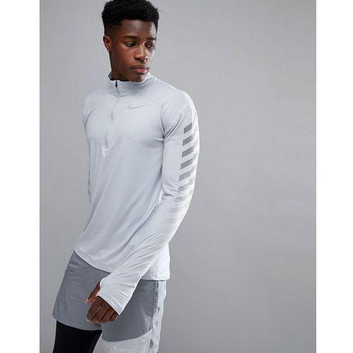 Nike Running Flash Element Reflective Half Zip Sweat In Grey 859199-012 - Grey