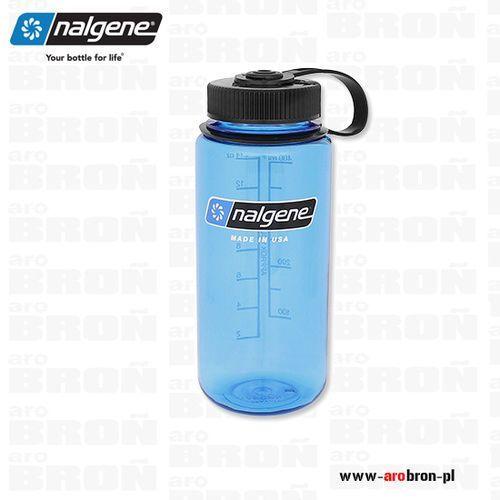 Butelka Nalgene 0,5l – Wide Mouth, otwór 53mm, niebieska 2178-1116