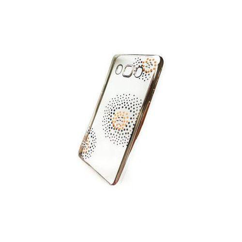 Obudowa dla telefonów komórkowych Beeyo Flower Dots pro Samsung Galaxy J3 (2016) (BEASAGAJ32016TPUFLSI) Srebrny