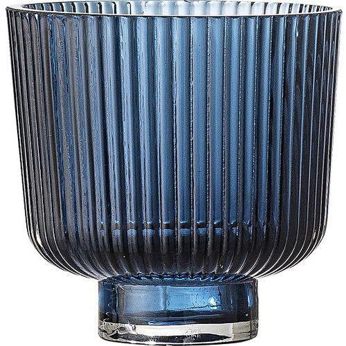 Doniczka Bloomingville szklana niebieska