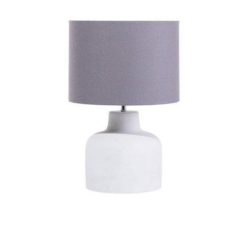 Lampa biurowa szara - stołowa - nocna - gabinetowa - BHIMA
