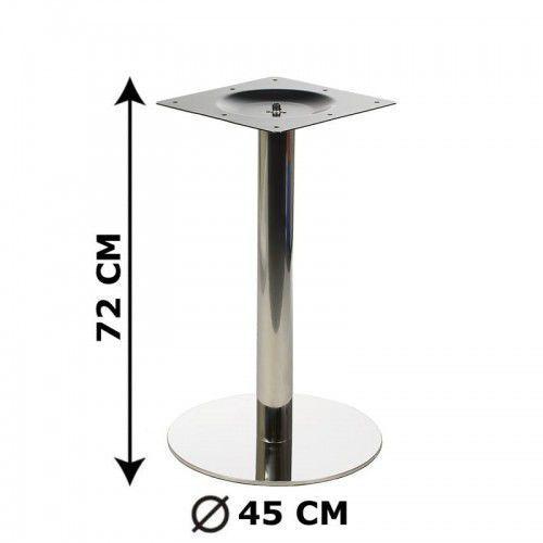 Podstawa stolika fi45, stal nierdzewna polerowana (stelaż stolika) - E11/45/P