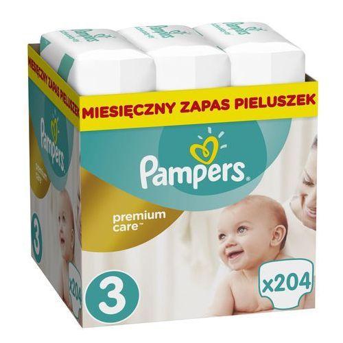 Pampers premium care 3 midi 204 szt. (5-9 kg) zapas na miesiąc - pieluchy jednorazowe. Najniższe ceny, najlepsze promocje w sklepach, opinie.