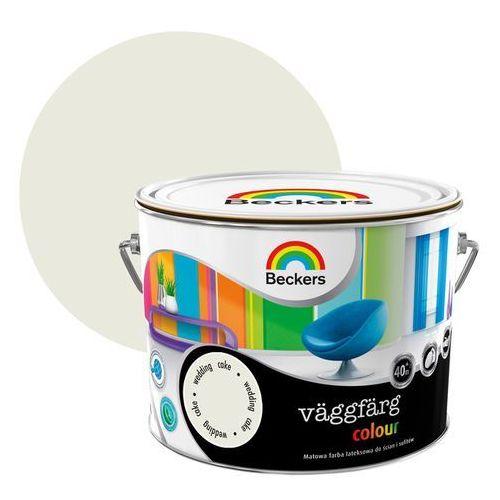 Beckers Farba lateksowa vaggfarg colour wedding cake 2,5 l (7311239350082)