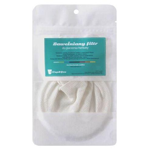 Bawełniany filtr do herbaty - EKO filtr z uchwytem, wielokrotnego użytku do zaparzania ziół, herbat