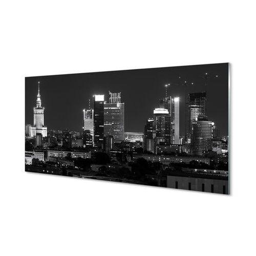 Tulup.pl Obrazy akrylowe warszawa panorama noc wieżowce