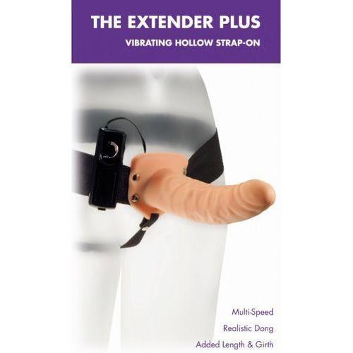 Wibrująca proteza z otworem The Extender Plus Strap-On 96129