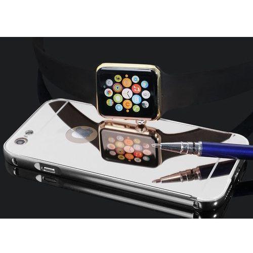 Mirror bumper metal case srebrny | etui dla apple iphone 6 plus / 6s plus - srebrny