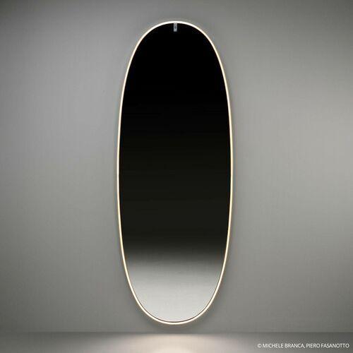 FLOS La Plus Belle lustro ścienne LED, złoto