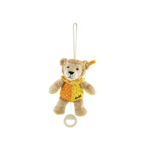 pozytywka lew leon, 20 cm, kolor beżowo-żółto-pomarańczowy marki Steiff