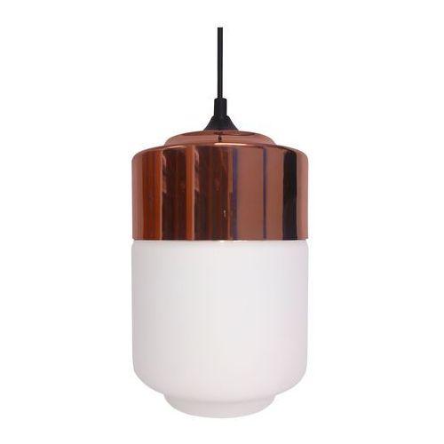 Lampa wisząca masala 31-37633 szklana oprawa industrialna zwis miedź biały marki Candellux